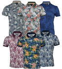 Mens Hawaiian Fashion Floral Polo Shirt Short Sleeve Casual Cotton Summer