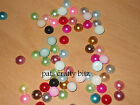 40 Acrylic Flat Back Pearl Beads Gems 10mm Various Colours On Listing