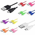 10 Colors 2 In 1 10FT Micro USB Data Sync Charger Cable Lead For Samsung Google