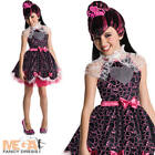 Draculaura + Wig Monster High Girls Fancy Dress Halloween Vampire Kids Costume