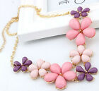 Luxury Women's Jewelry Sweet Flowers Ocean Bib Statement Collar Chain Necklace