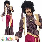 "70s PSYCHEDELIC ROCKER JIMI HENDRIX JIMMY - 38""-48"" - mens fancy dress costume"