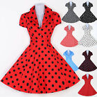 LUCY DRESS 50'S RED & BLACK POLKA DOT Swing 40s 50s Housewife pinup Vintage SALE