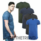 Mens Genetic Apparel Curved Round Hem Tshirt Mens Longline Dyed Top Tee Shirt