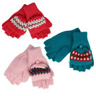 Girl One Size Mittens in Three Colors Teal L ight Pink and Dark Pink