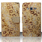 For Samsung Galaxy Core Prime Premium Leather Wallet Flip Cover Lips Accessory