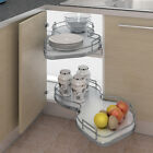 Nuvola Kitchen Corner pull out shelving unit + railing for 800mm kitchen cabinet