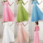 Lace Slim Cocktail Evening Party Wedding Ball Gown Bridesmaid' Long Dresses Plus