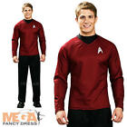 Scotty Shirt Mens Fancy Dress Star Trek Red Sci Fi Space Uniform Adults Costume