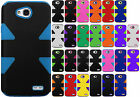 LG Ultimate 2 L41C LIMPACT TUFF HYBRID Protector Case Skin Cover +Screen Guard