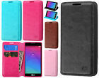 For LG Leon C40 Premium Wallet Case Pouch Flap STAND Cover +Screen Protector