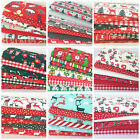 Polycotton christmas fat quarter bundles craft fabric poly cotton