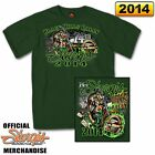 + Sturgis 2014 Motorcycle Rally Wild Bill #1 T-Shirt - Forest Green