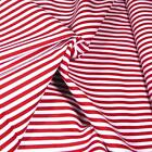 The Perfect Red & White Stripe Fabric! Multifunction Cotton Basic! Crisp, Clear
