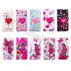 Lively Butterfly Love PU Leather ID Card Stand Wallet Case Cover For Multi Phone