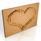 Gorgeous Love Heart in the Sand * Top Quality Box Canvas Ready to Hang A1 A2 A3