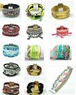 Bracelet Hipanema Braided Multilayer Bangle Wrap Magnetic Clasp Lock Colorful
