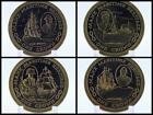 1982 Isle of Man One Crown Manx Maritime Heritage Boat Ship Coin
