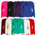 LADIES FRILL SHIFT FIT PEPLUM ZIP UP PARTY WOMENS BLAZER JACKET COAT SIZE 8-16