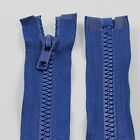 BLUE 10'' - 32'' INCH CHUNKY NO.5 OPEN END ZIPS PLASTIC ZIPPER *12 SIZES* NZ1227