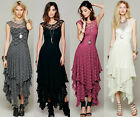 2015 New Fashion Sexy People Beach Long Women Lace Cocktail Party Dress Bohemia