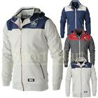 Mens Crosshatch Double Zip Layer Hooded Lined Windbreaker Jacket Size