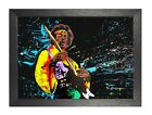 Hendrix Retro Jimi American Rock Guitarist Poster Singer Music Star Curly Hair