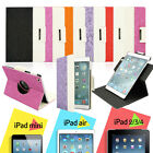 For Apple iPad 2/3/4 AIR 360 Rotating Magnetic PU Leather Case Smart Cover Stand