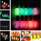 7ml Nail Art Polish Glow In Dark Candy Colors Fluorescent Neon Luminous Varnish