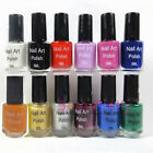 1Pc 5ml Nail Art Stamp Stamping Polish Nail Design Varnish Stamp-12 Colors