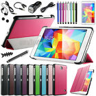 Slim Magnetic Case Cover For Samsung Galaxy Tab 4 7.0 7 SM-T230+Accessory Bundle