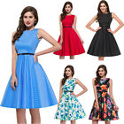 LAST CENTURY Vintage 50s 40s Full Circle skirt Tea DRESSES Rockabilly Dress Plus