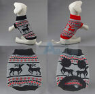 Cute Pet Clothes Knitted Dog Jumper Sweater For Small Dogs Size XS-XXL Black Red