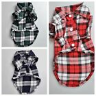 Small Dog Pet Puppy Apparel Plaid Shirt Clothing Coat  Clothes Hoodie Costumes