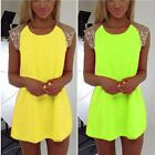 2015 Women Stripes Summer Casual Prom Fashion Party Evening Cocktail Mini Dress