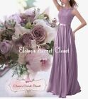 TULA Lavender Passion Lace Chiffon Maxi Bridesmaid Ballgown Dress UK Sizes 6 -18