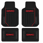 New GMC Elite Logo Series Black Front & Rear Rubber Floor Mats Made in USA