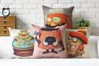 "Cute Cartoon Monster Decor Cushion Cover Pillow Case Square Linen 17"" 20.87"""