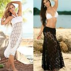 Women's Sexy Bikini Swimwear Cover Up Beach Hollow Crochet Skirts Tops Dress LG