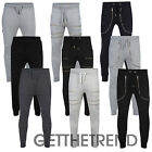 Mens Designer Trousers Fleece Slim Skinny Fit Jog Pants Drop Crotch Joggers Gym