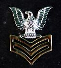 2 1st CLASS PETTY OFFICER GOOD CONDUCT HAT LAPEL PIN E6 CROW US NAVY USS SAILOR