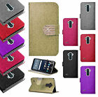 For LG G Stylo Diamante Glitter Leather Wallet Flip Phone Cover Case Accessory