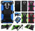 For LG G Stylo Hybrid Combo Holster KICKSTAND Rubber Case Cover + Screen Guard