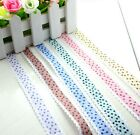"""5yards 3/4""""(20mm) Printed Star Lace Polyester Ribbon 6 colors L2206-2211"""