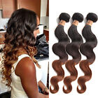 "3Bundles Ombre Brazilian Human Hair Extension 12""-30"" Body Wave 3tone:1B/4/30#"