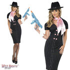 FANCY DRESS COSTUME # LADIES 1920'S GANGSTER'S MOLL MAFIA DRESS SIZE 8-18
