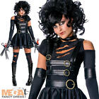 Miss Edward Scissorhands + Wig Fancy Dress Ladies Halloween Womens Costume 6-14