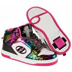 Heelys Flash 2.0 High Top Shoes - Black White Multi Coloured +Free Delivery+ DVD