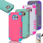 Colorful Rugged Hybrid Impact Combo Hard Soft Case Cover For Samsung Galaxy S6