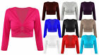 Ladies 3/4 Sleeve Summer Crop Top Womens Ring Cut Out Vest Dance Top 8-22
